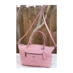 Coach Signature Crossgrain Leather Satchel Handbag